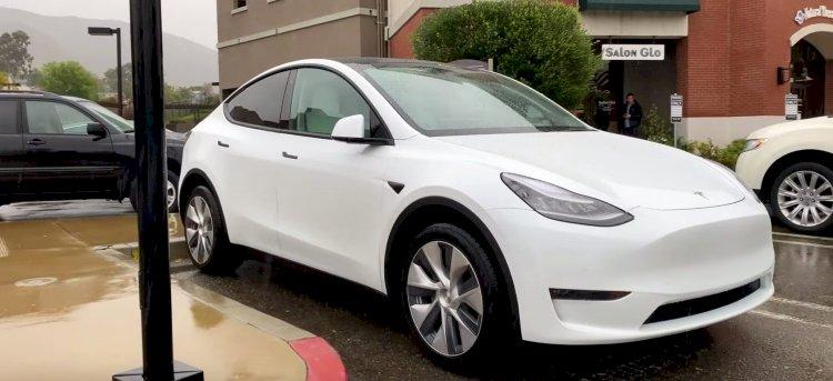 Tesla Model Y засняли на видео