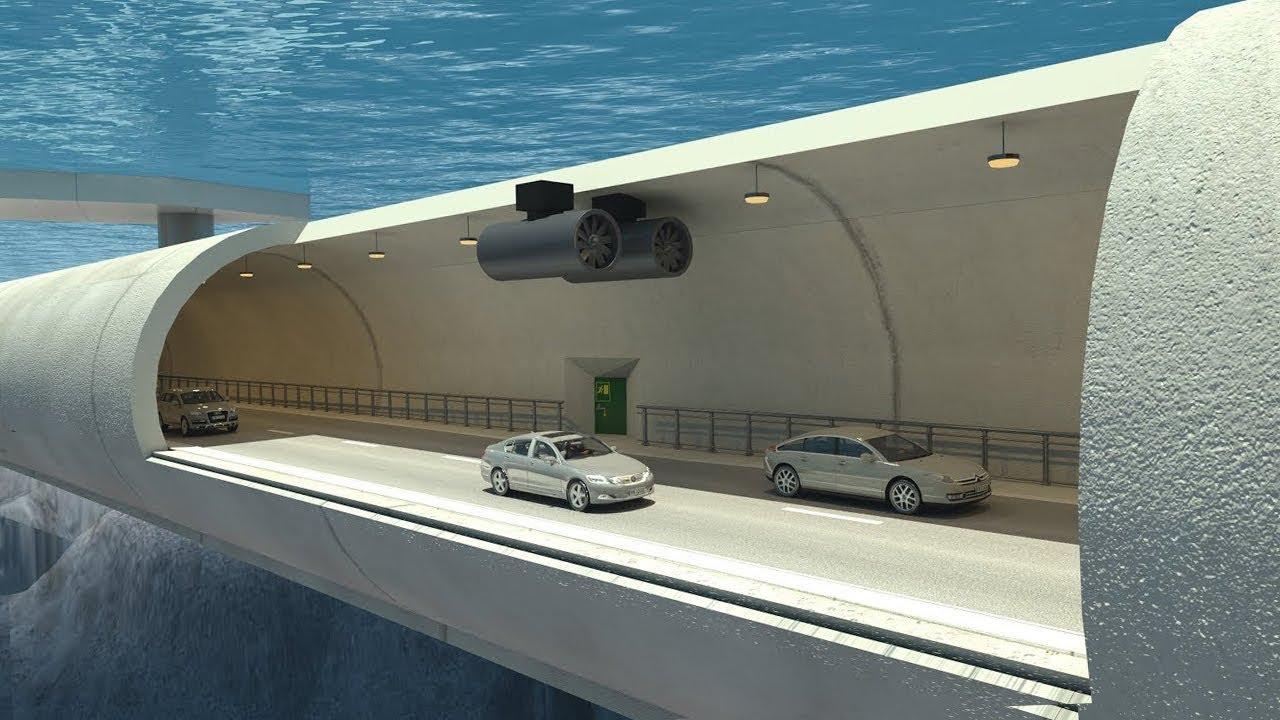 Норвегия строит первую в мире подводную автомагистраль. ВИДЕО